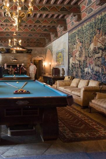 Grande Salle Hearst Castle Californie billard