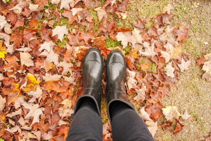 Les bottes automne Nouvelle Angleterre
