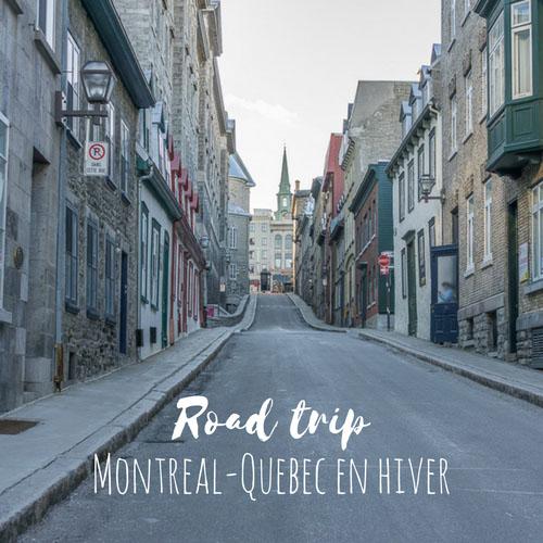 Road trip Montreal Quebec