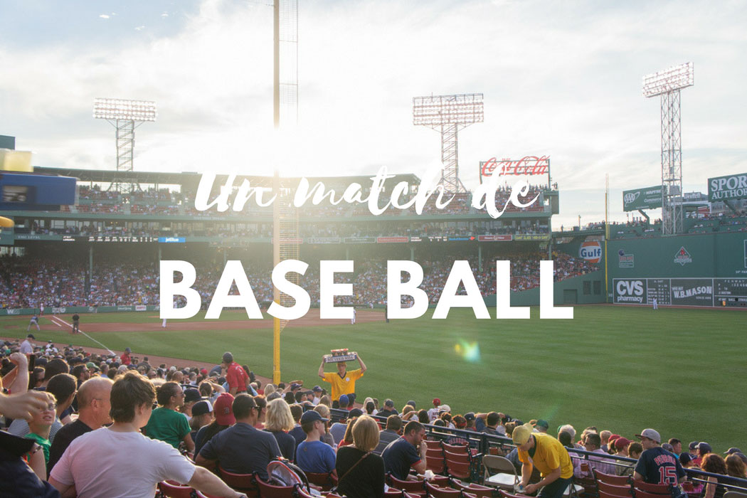 Un match de base ball Red Sox