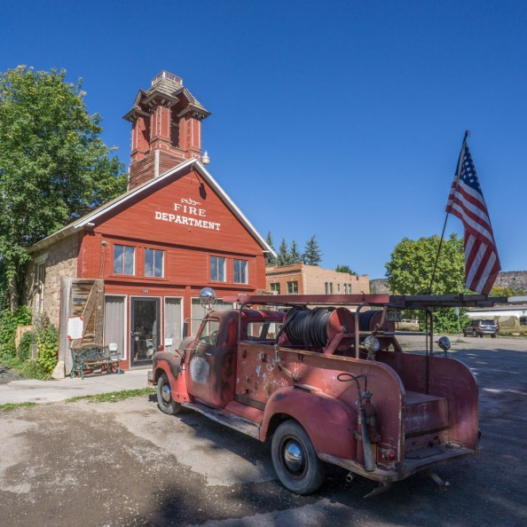 Colorado road trip - Ridgway, vintage station de pompiers