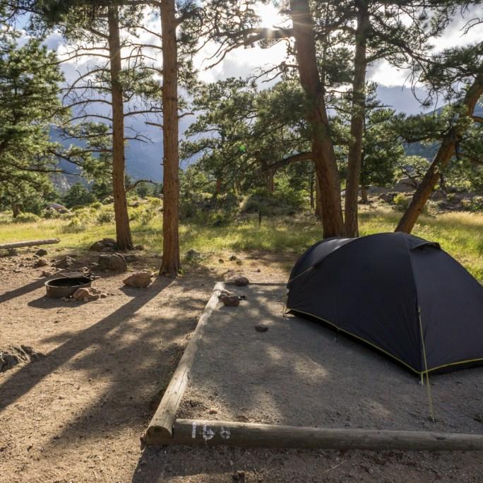 Belle vue au camping des Rocky Mountains