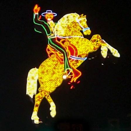 las vegas - by night - cow boy