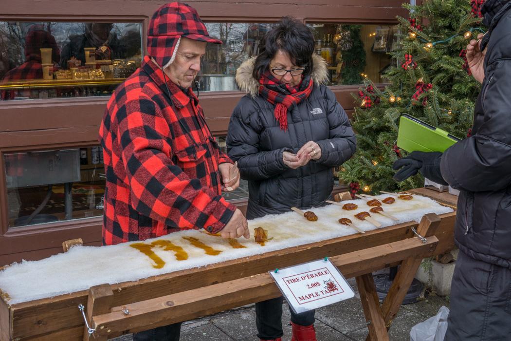 Visite de la ville de Quebec- Tire d'érable