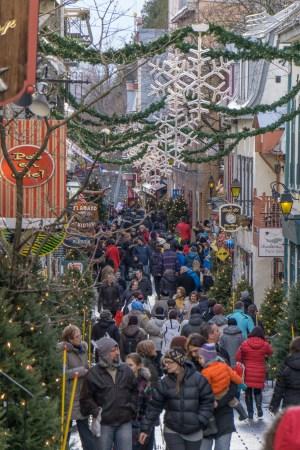 Visite de la ville de Quebec- rue du petit champlain