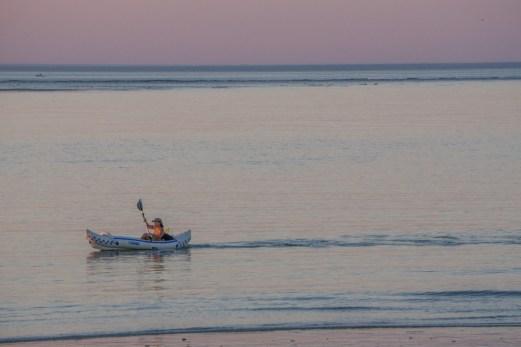 Coucher de soleil Crane Beach et kayak