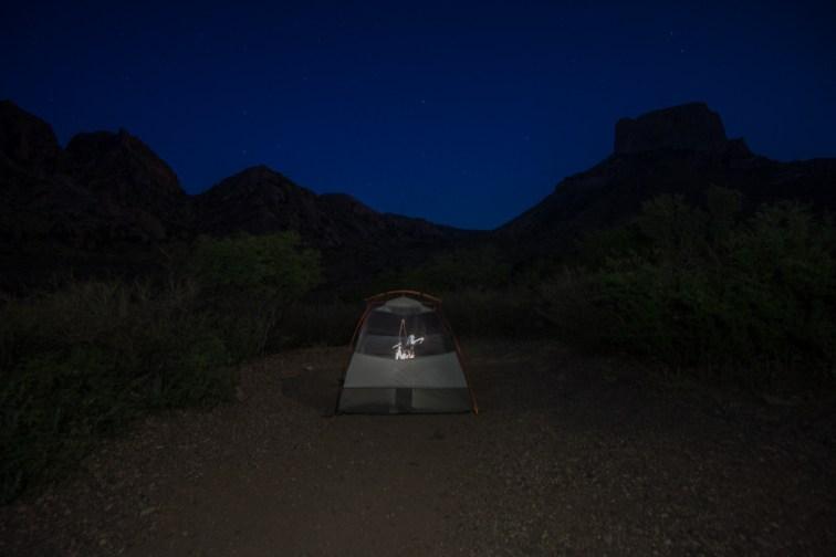 Big Bend Texas - camping at night