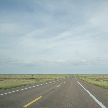 petrified forest arizona - route toute plate