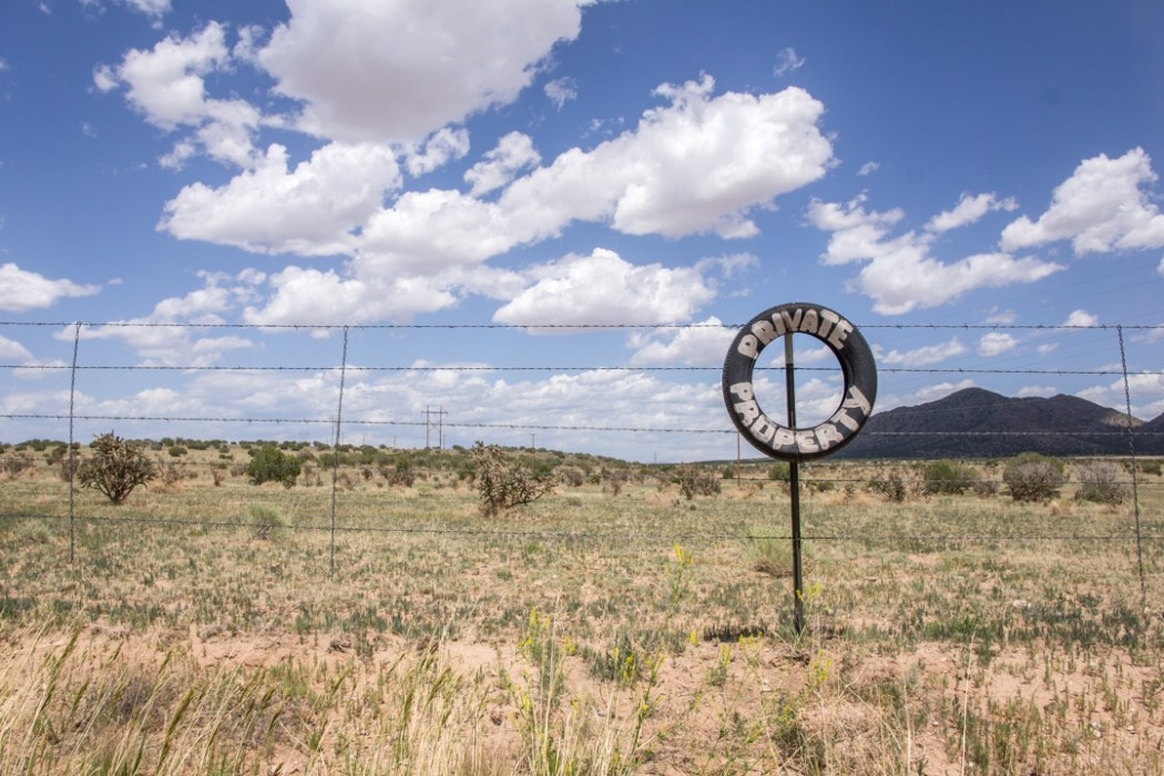 LA route de la turquoise nouveau mexique private property
