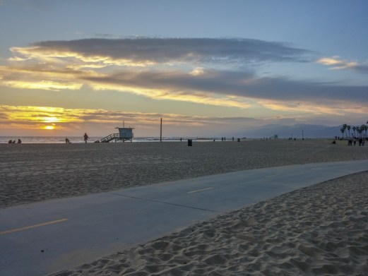 Coucher de soleil Venice Beach Los Angeles California-9
