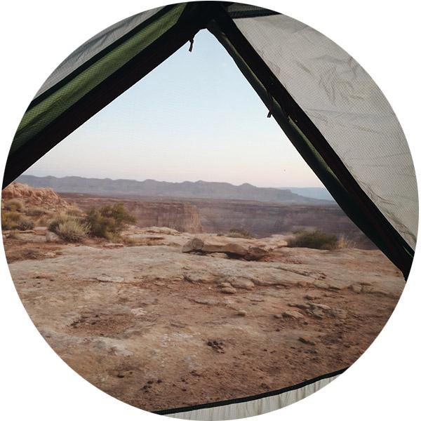 reveil dans la tente alstrom point utah