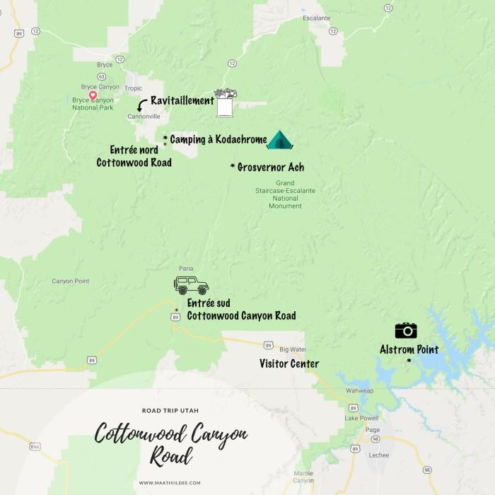 ROAD TRIP UTAH carte cottonwood canyon road