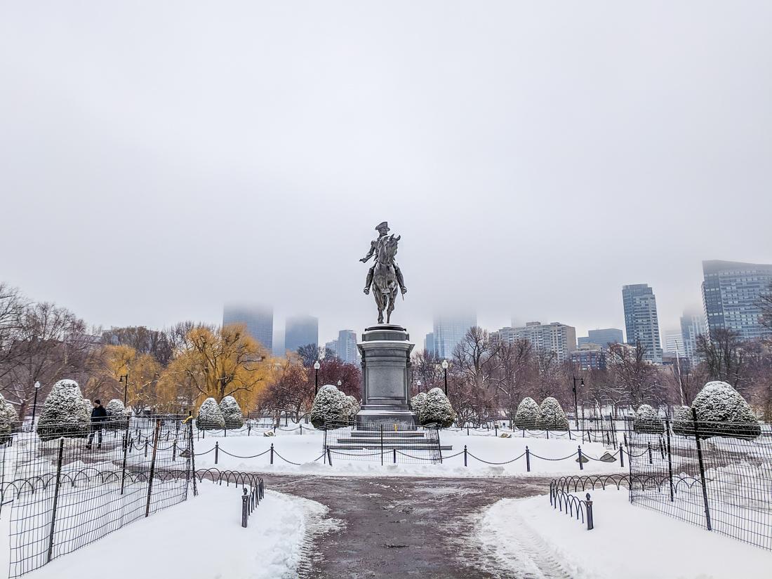 Washington boston public garden hiver 1