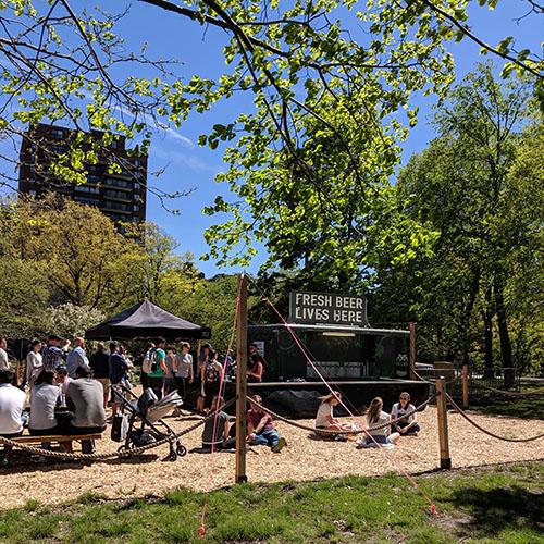 Beer garden esplanade
