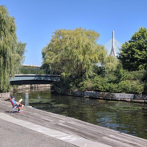 Tour en velo autour de la riviere boston