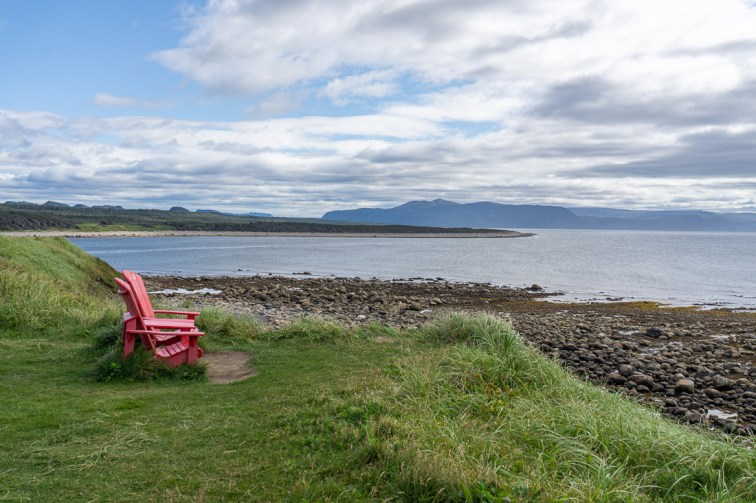 Red adirondacks chairs newfoundland terre neuve 1 2
