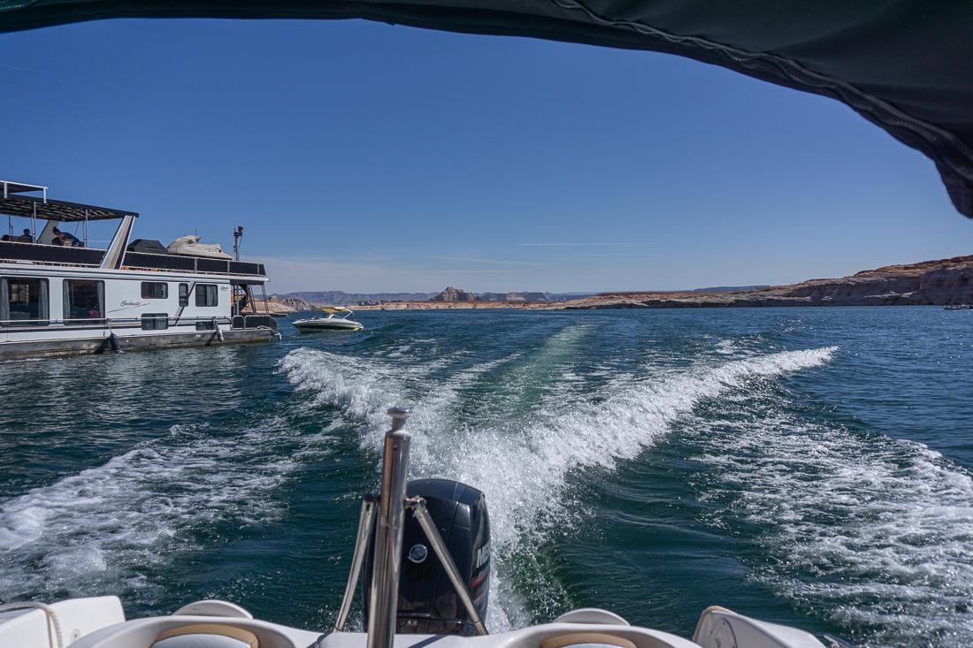 Lake powell en bateau 1