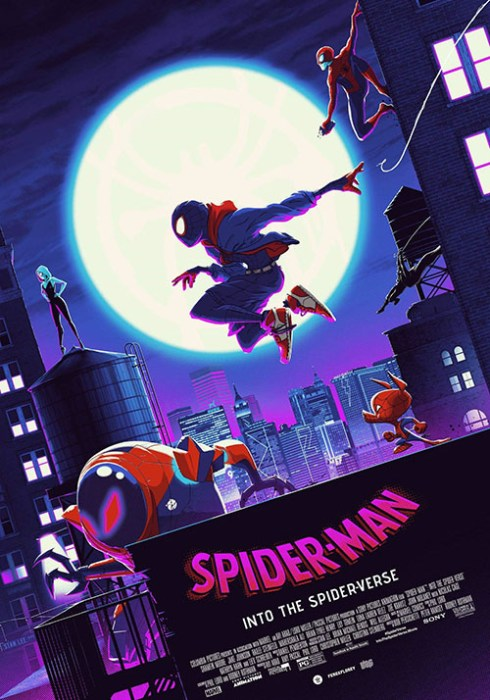 This cool spider man into the spider verse poster art from matt ferguson glows in the dark1