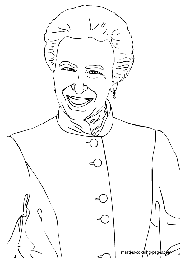 Princess Anne coloring pages