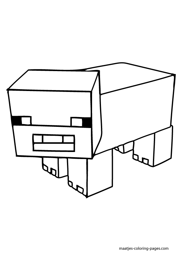 Minecraft Pigman Coloring Pages