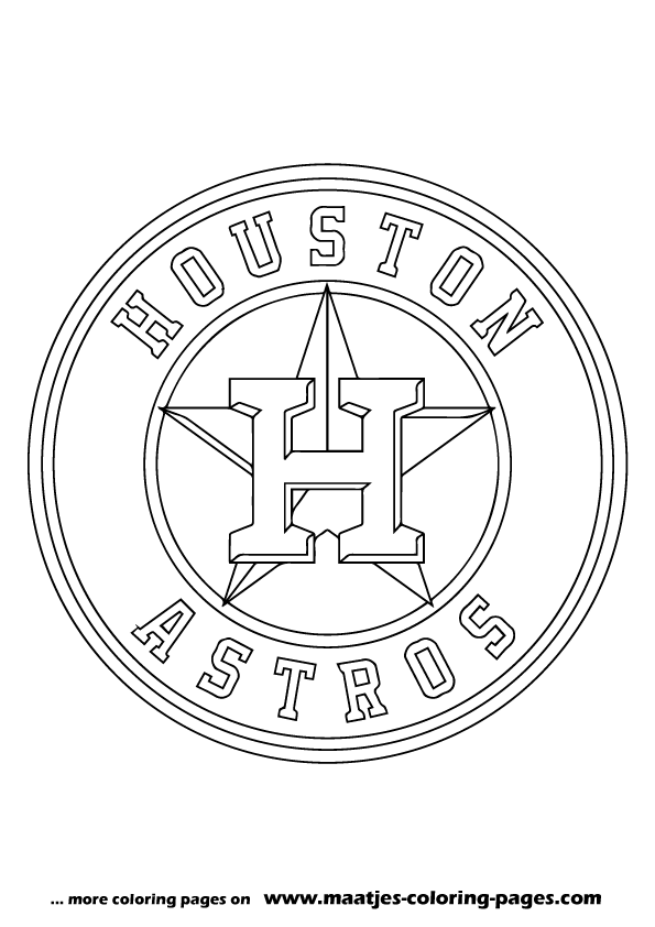MLB Houston Astros logo coloring pages