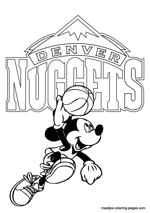 Nuggets Printable Coloring Pages