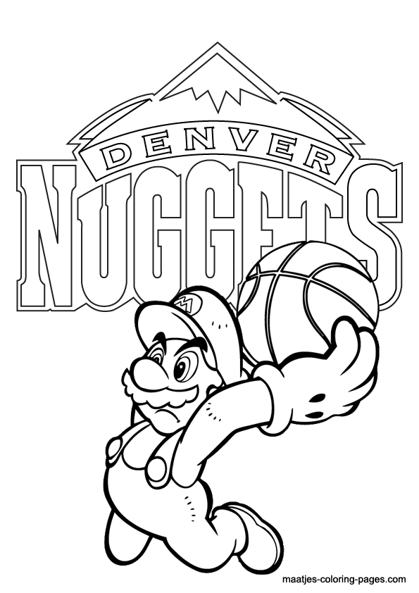 Denver Broncos Mascot Page Coloring Pages