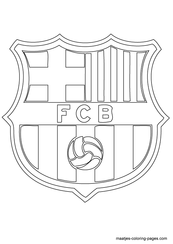Fc Barcelona Logo Coloring Pages Sketch Coloring Page