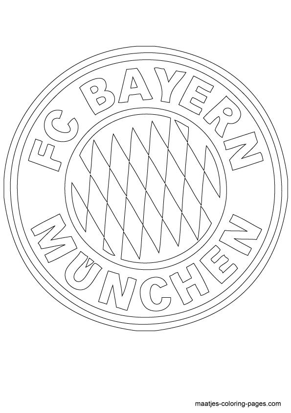 Bayern Munich Logo Coloring Page Sketch Coloring Page