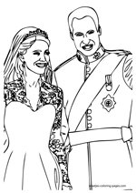 Kate and William coloring pages