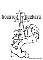 Houston Rockets NBA coloring pages