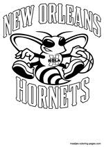 New Orleans Hornets NBA coloring pages
