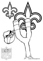 New Orleans Saints coloring pages