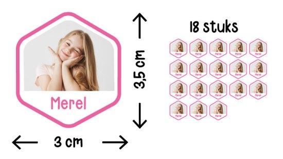 fotostickers zeshoek illustratie formaat aantal