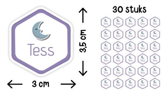 stickers zeshoek staand illustratie formaat aantal