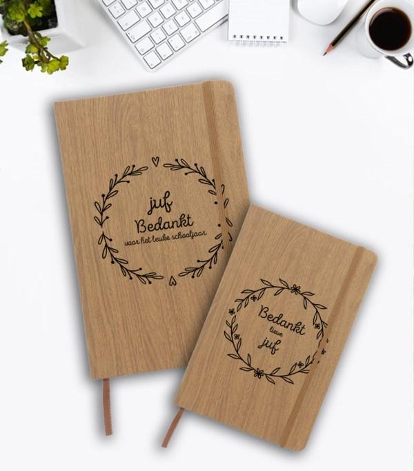 notitieboek-a5-houtlook-zwart-bedankt-juf-sticker