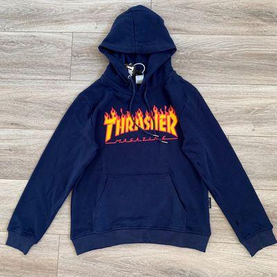 Thrasher 經典款火焰薄款帽t - maba潮流服飾包包球鞋