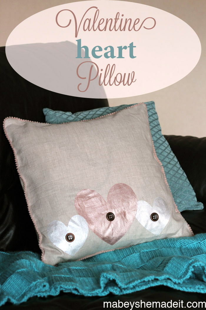 These painted hearts on a linen pillow sham are perfect for Valentine's Day or any day. Learn to make the sham with this full tutorial.