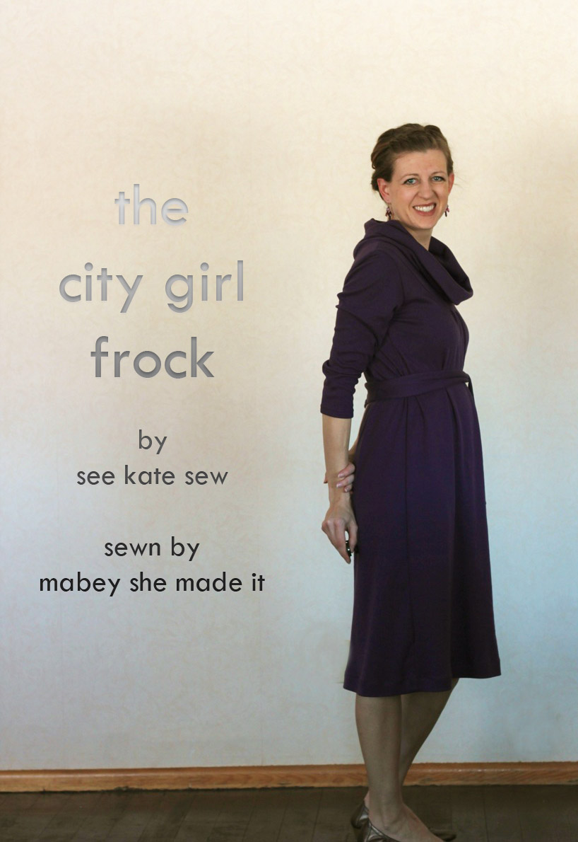 City Girl Frock | Mabey She Made It #sewing #justaddjeans #patternanthology #dress #pattern review