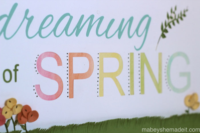 Dreaming of Spring Art | Mabey She Made It #silhouette #spring #papercrafts