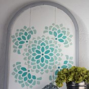 Stenciled Arch Tutorial with Ombre Effect