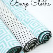DIY Cotton Print Burp Cloths by The Crafted Sparrow