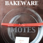 Glass Etched Bakeware