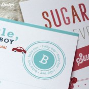 Baby Shower Invitations (Rouge Rhombus Design) and a Freshly Picked Giveaway!