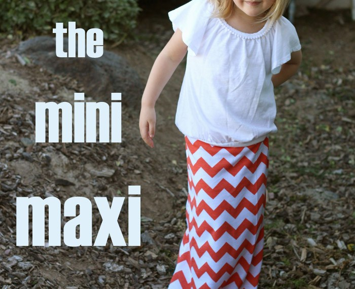 Mini Maxi Skirt | Mabey She Made It #maxiskirt #kidsclothesweek