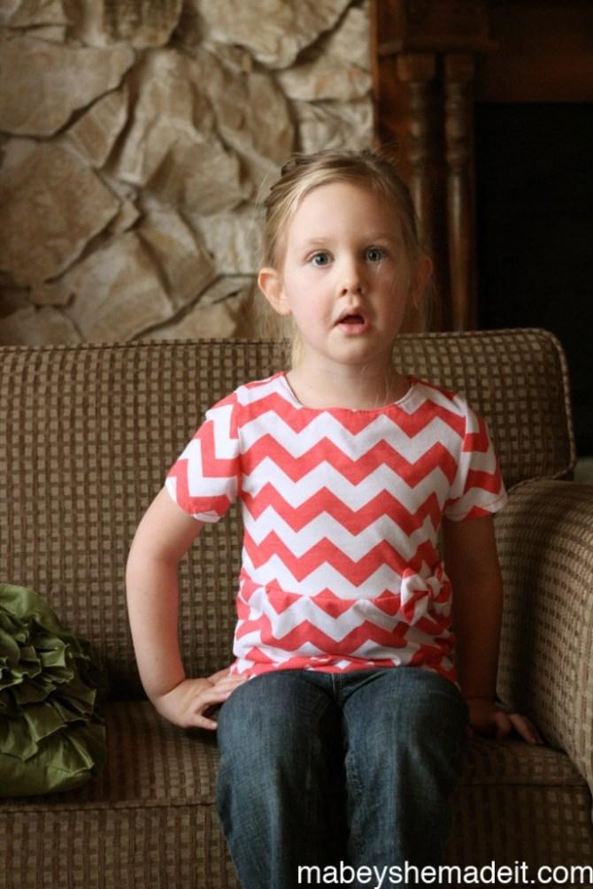 Pippa Peplum Review   Mabey She Made It #sewingforkids #peplum