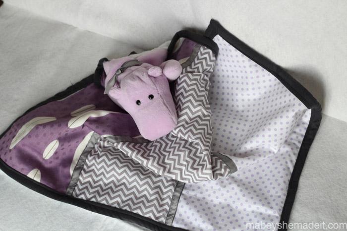 Stuffed Lovey Tutorial   Mabey She Made It #nestingtonewborns #lovey #sewingforbaby #baby