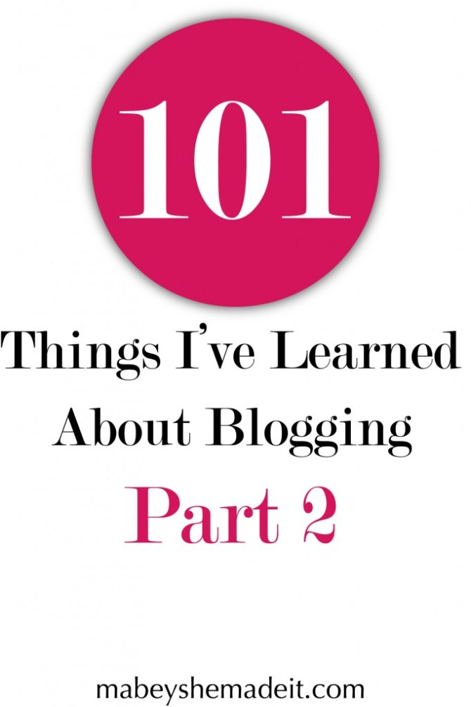 Blogging Lessons Part 2