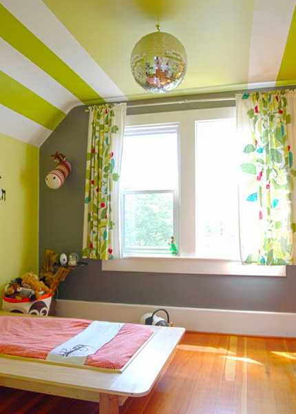 ceiling-painting-ideas-stripes-kids-rooms-4