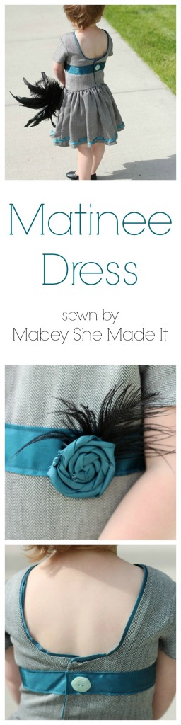 Click to see the modifications made to the Matinee Dress | Mabey She Made It | #matineedress #sewingforkids #jennuinedesign